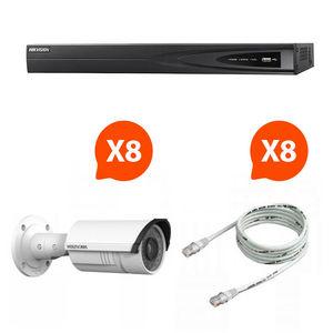 CFP SECURITE - vidéo surveillance - pack nvr 8 caméras vision noc - Videocamera Di Sorveglianza