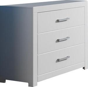 WHITE LABEL - commode chambre enfant à 3 tiroirs - Cassettiera Bambino