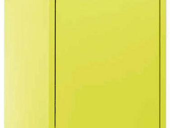 jardindeco - armoire de rangement m�tal 1 porte anis -