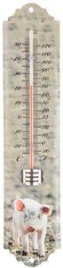 Esschert Design - thermomètre mural cochon - Termometro