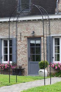 NATURE - pergola archéa en acier galvanisé noir - Pergola