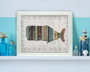 FABFUNKY - whale 1 - Quadro Decorativo