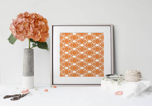 la Magie dans l'Image - print art african orange - Stampa