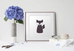 la Magie dans l'Image - print art renard noir - Poster