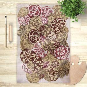 la Magie dans l'Image - foulard jardin d'automne - Foulard Quadrato