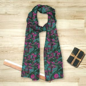la Magie dans l'Image - foulard tropical flowers forêt - Foulard Quadrato