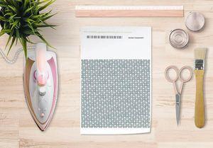 la Magie dans l'Image - papier transfert trefle vert-de-gris blanc - Trasferibile