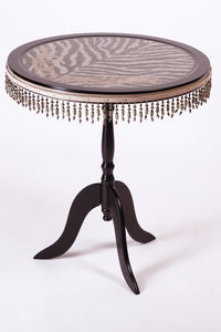 RELOADED DESIGN - mini table met safari zebra - large - Tavolino Rotondo