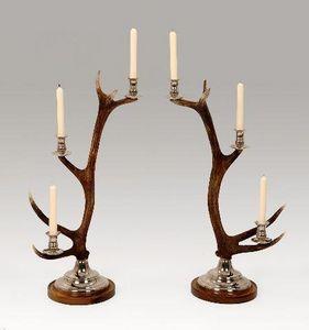 Clock House Furniture - candlestick - 3-arm nickel - Portacandela