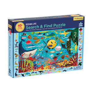 BERTOY - search & find puzzle ocean life - Puzzle Per Bambini