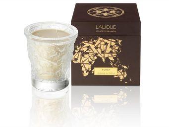 Lalique - bougie vase de cristal 750 g foret - Candela