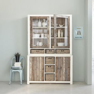BOIS DESSUS BOIS DESSOUS - vaisselier en bois de pin recyclé 140 atlantic - Credenza Con Piattaia