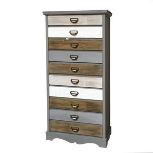 CHEMIN DE CAMPAGNE - meuble bahut semainier à tiroirs bois 128 cm - Cassettiera