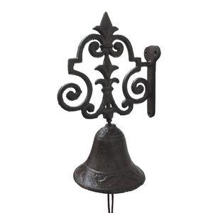 CHEMIN DE CAMPAGNE - cloche de porte portail sonnette murale en fonte m - Campanella Da Esterno