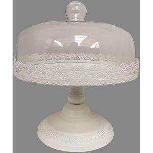 CHEMIN DE CAMPAGNE - plateau grande cloche à gâteaux tartes fromages su - Vassoio Per Formaggi