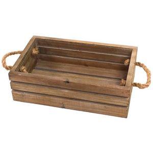 CHEMIN DE CAMPAGNE - caisse casier panier en bois de cuisine 33x20x10 c -