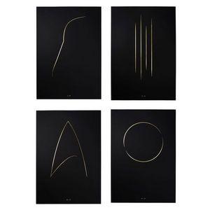 THE THIN GOLD LINE - the full collection - Impressione Di Arte