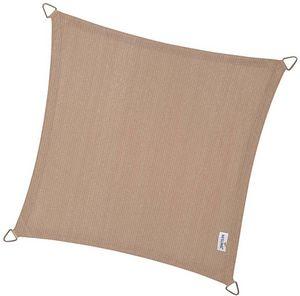jardindeco - voile d'ombrage carrée coolfit sable 5 x 5 m - Tenda Da Esterno