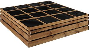JARDIPOLYS - carré potager à poser 16 cases lign z - Contenitore Per Orto