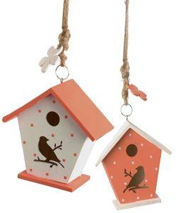 Amadeus - petit nichoir agrume en bois (lot de 2) - Casetta Per Uccelli