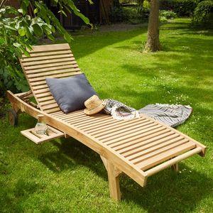 BOIS DESSUS BOIS DESSOUS - bain de soleil en bois de teck midland - Lettino Prendisole