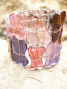 L-Mosaïque :: mosaïque décorative contemporaine -  - Bicchiere Portacandela