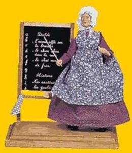 Sylvette Amy santons - institutrice / teacher - Statuina Presepe