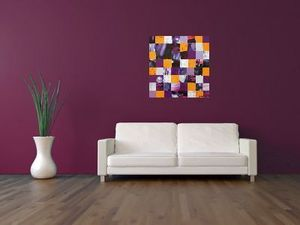 JOHANNA L COLLAGES - paris purple sunset - Quadro Decorativo