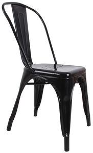 COMFORIUM - chaise design «toxi» coloris noir - Sedia