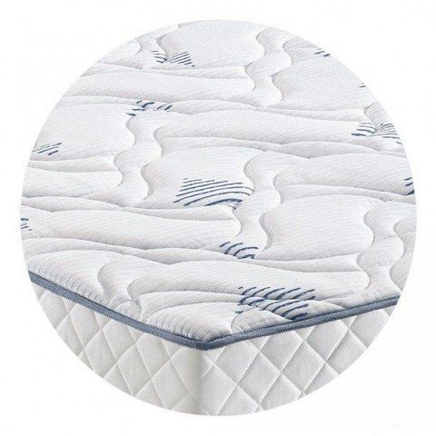 WHITE LABEL - Materasso a molle-WHITE LABEL-Matelas STUNY MERINOS à ressorts ensachés longueur