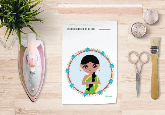 la Magie dans l'Image - Trasferibile-la Magie dans l'Image-Papier transfert Héros Indienne