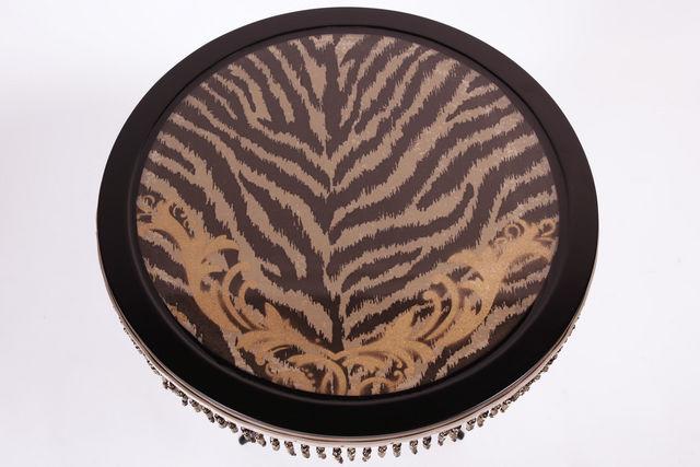 RELOADED DESIGN - Tavolino rotondo-RELOADED DESIGN-Mini Table Met Safari Zebra  - Large